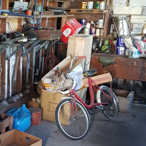 garage full of possessions