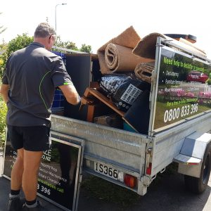 Loading Trailer with rubbish