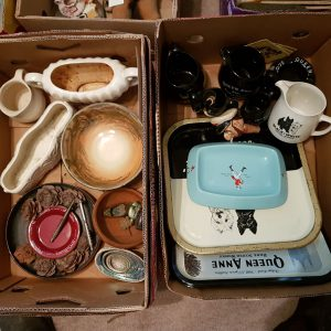 antiques in boxes